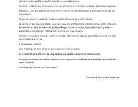 #20 for Translate script of promo video into Spanish by carolinafig