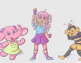 Nro 20 kilpailuun CUTE 2D Character Design of a girl, elephant and bee! (2D ONLY, FULL COLOR, CARTOON) käyttäjältä sushizzy