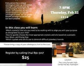 #9 for Astrology and Crystals Lecture Flyer af us2160studios