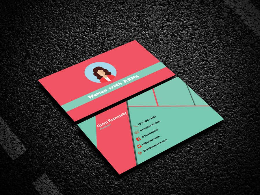 Entry #78 by Alnoman123 for design business card for women in small ...