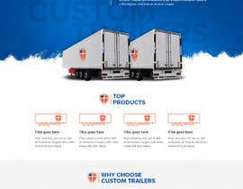 #49 for Design homepage for website trailer dealer by pixelwebplanet