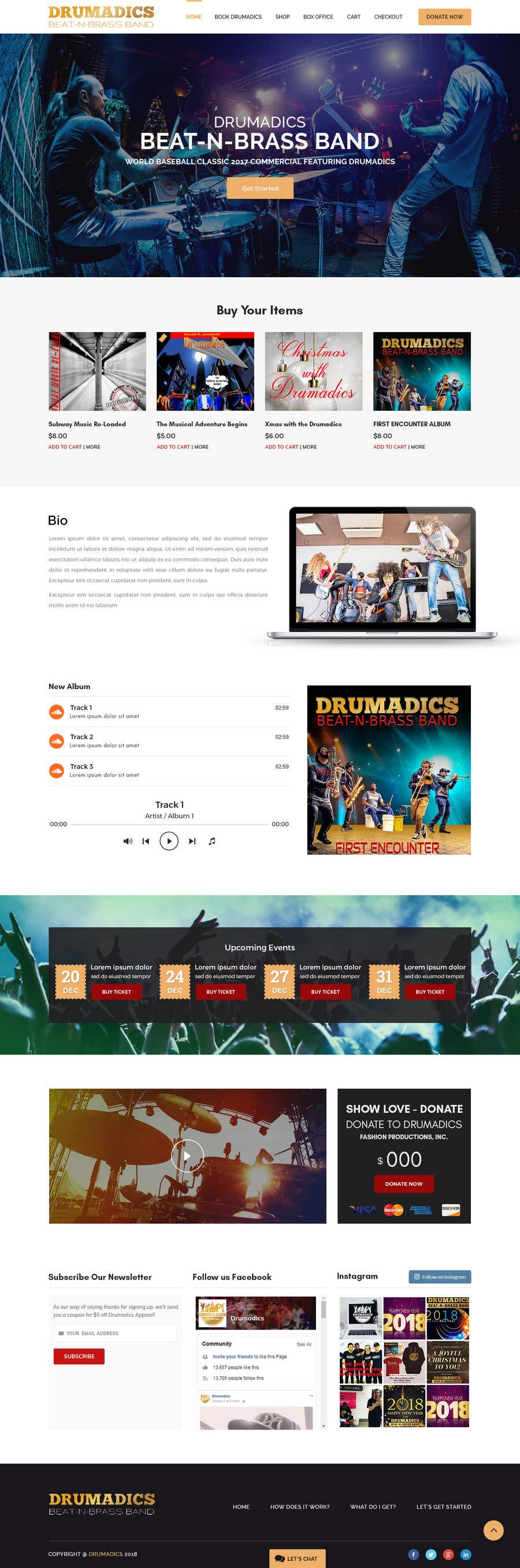 Bài tham dự cuộc thi #9 cho Independent Music Website/Store WordPress Theme Template Needed