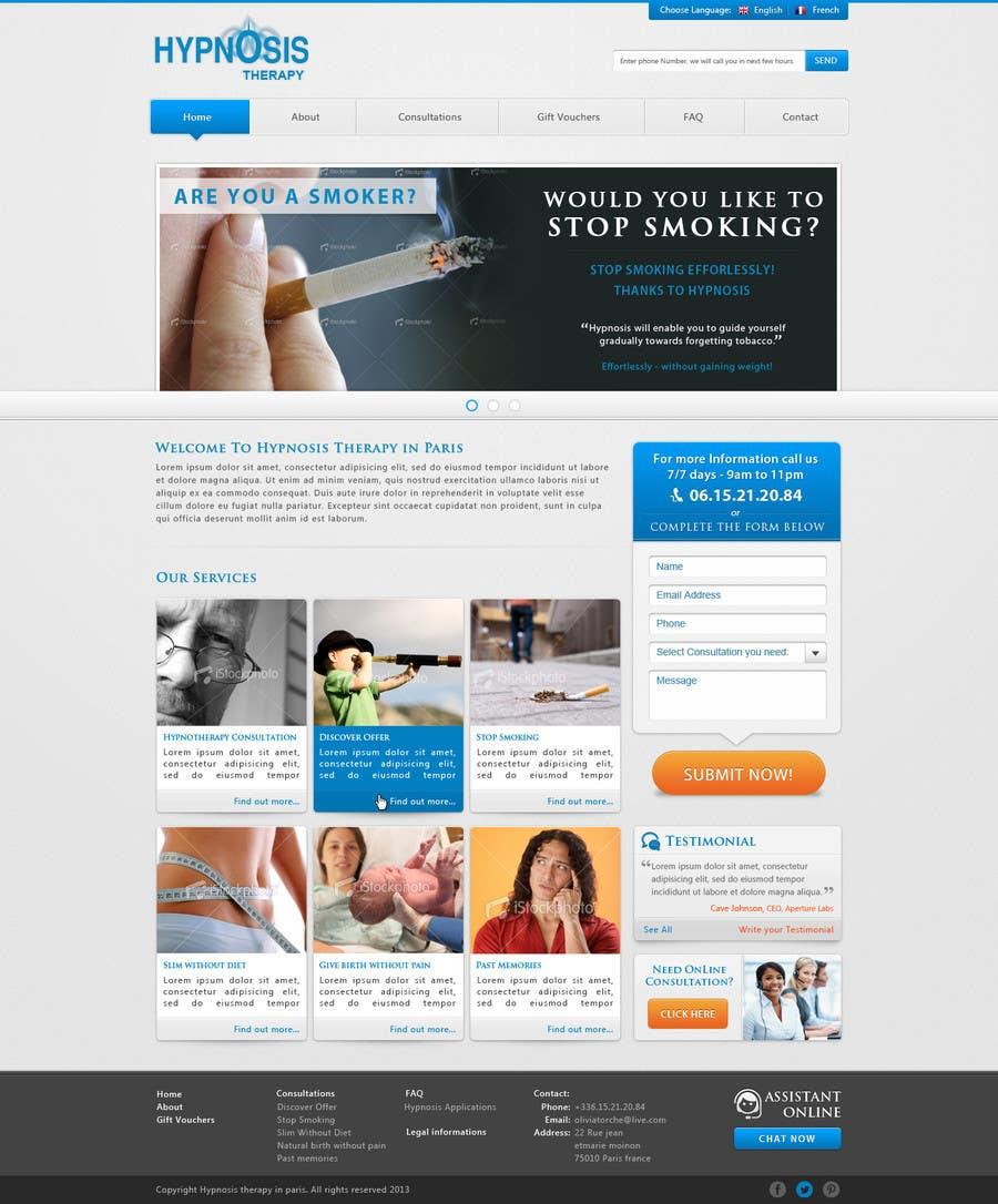 Kilpailutyö #                                        39                                      kilpailussa                                         Website Design for EMERGENCY HYPNOSIS