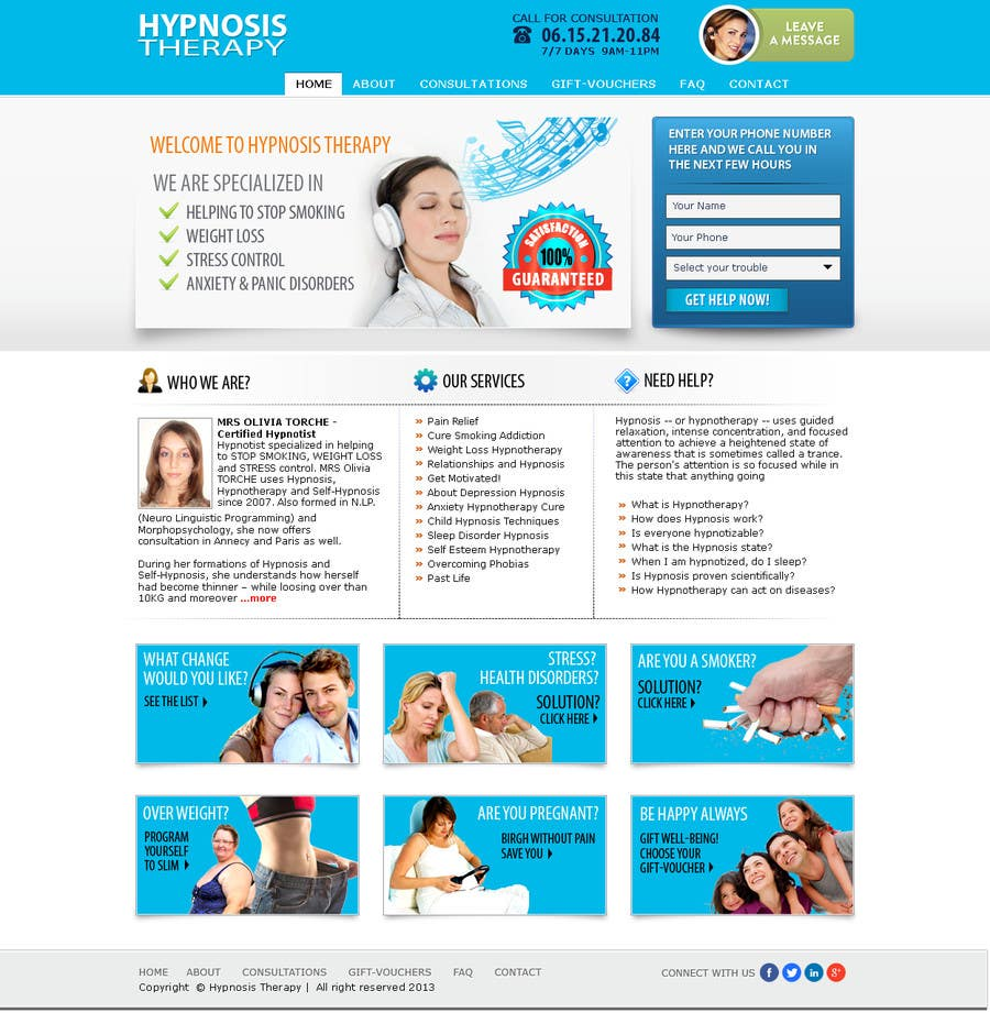 Entry #35 by shybkar for Website Design for EMERGENCY HYPNOSIS
