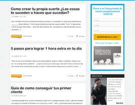 webidea12 tarafından Design a Website Mockup for personal blog, landing page and blog page için no 3