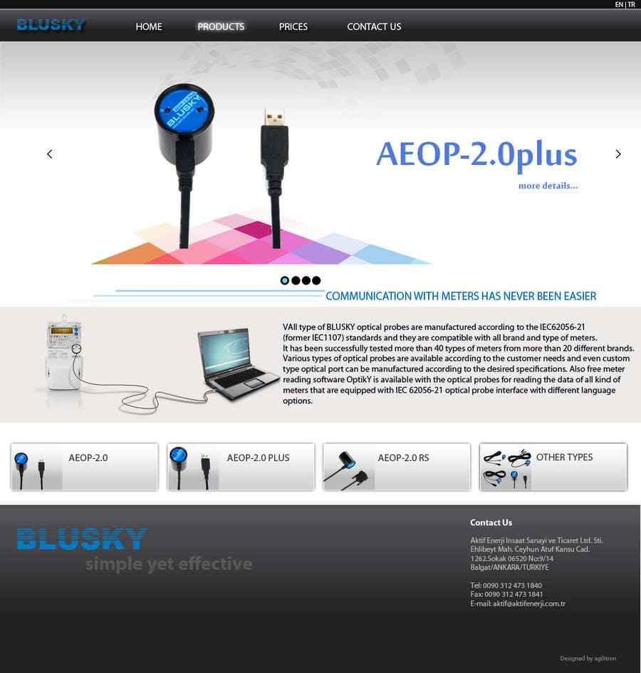 Конкурсная заявка №110 для Website Design for BLUSKY optical probes