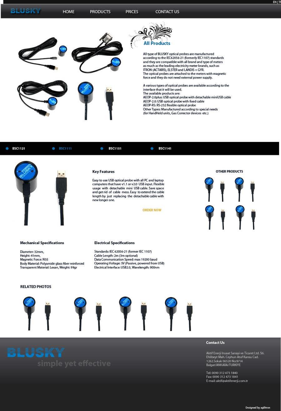 Natečajni vnos #                                        115                                      za                                         Website Design for BLUSKY optical probes