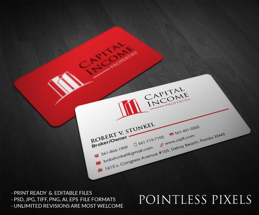 Entry 25 by pointlesspixels for design some business cards for contest entry 25 for design some business cards for commercial real estate company reheart Images