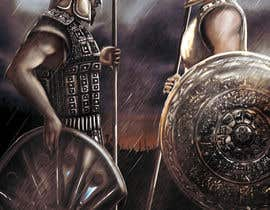 "#103 for Illustration of cover page for a Greek Mythology e-book entitled ""The Iliad"" with provisional subtitle ""The fall of Troy"" by zeelant"