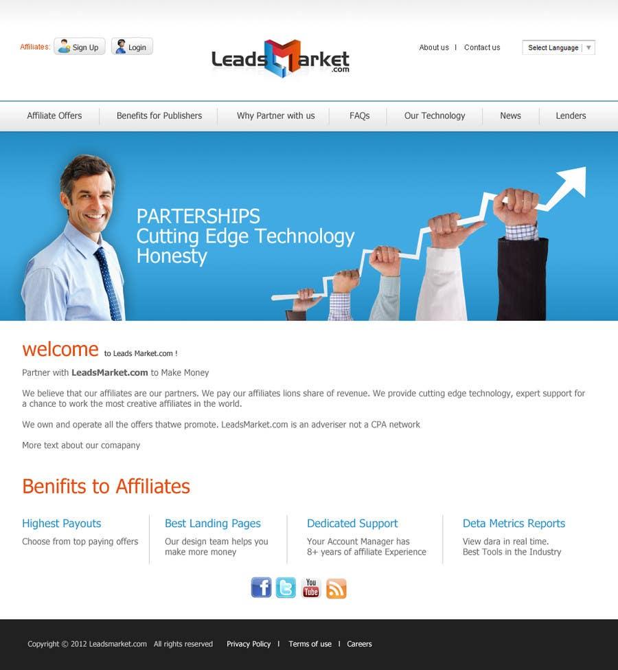 Inscrição nº                                         37                                      do Concurso para                                         Website Design for LeadsMarket.com