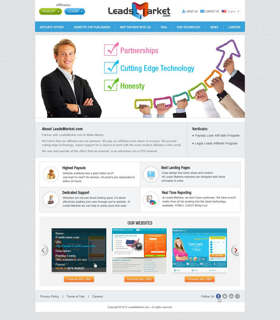 #51 for Website Design for LeadsMarket.com by iNoesis