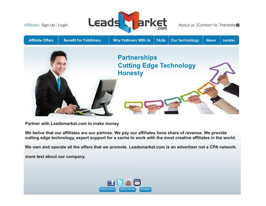 #63 for Website Design for LeadsMarket.com by ezra66