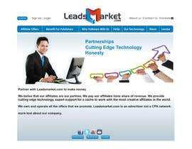 #62 para Website Design for LeadsMarket.com por ezra66