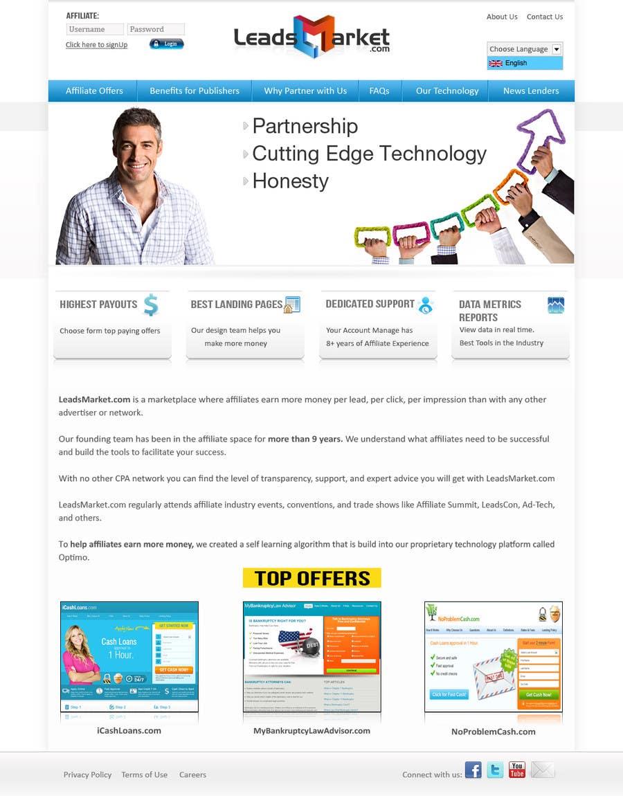 #78 for Website Design for LeadsMarket.com by vebizsolutionsvw