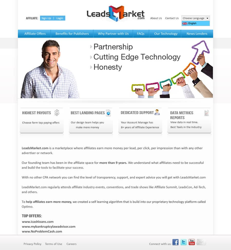 #55 for Website Design for LeadsMarket.com by vebizsolutionsvw