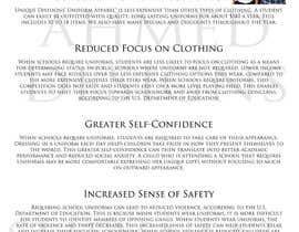 """#5 untuk Design an Informational Flyer for School Uniforms 8.5""""x11"""" oleh Onefilter"""