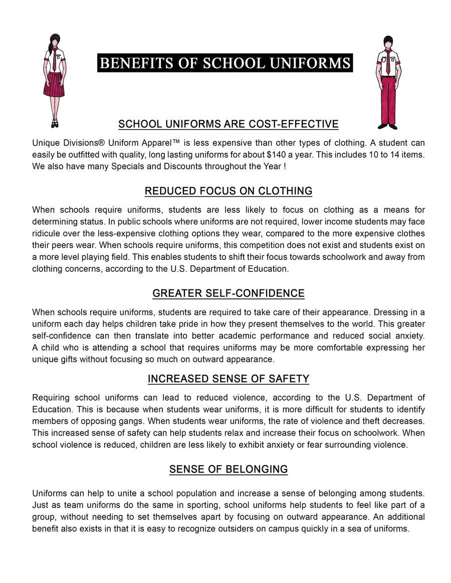 """Penyertaan Peraduan #                                        6                                      untuk                                         Design an Informational Flyer for School Uniforms 8.5""""x11"""""""