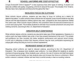 "#6 untuk Design an Informational Flyer for School Uniforms 8.5""x11"" oleh myabhi7700"