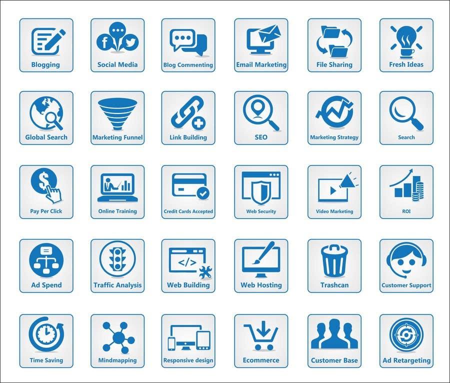Inscrição nº                                         9                                      do Concurso para                                         Web and Online Marketing Icon Design Set