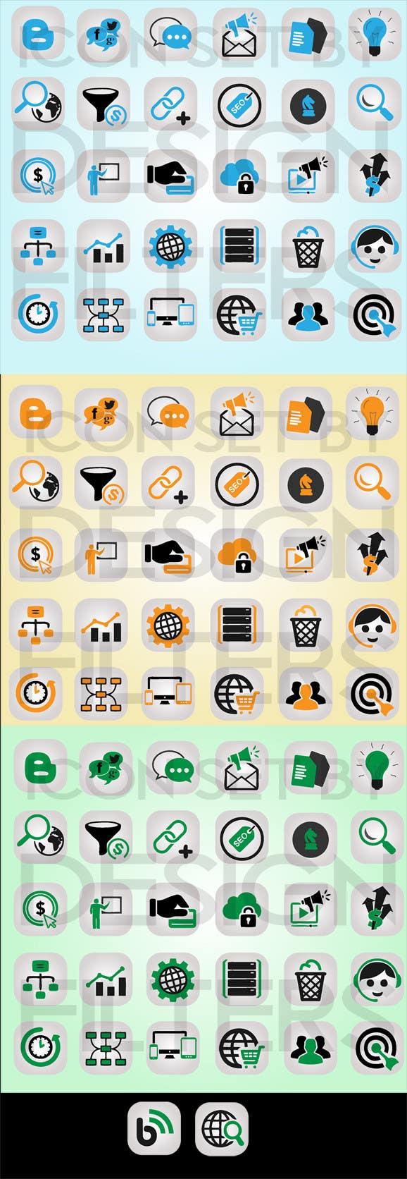 Inscrição nº                                         5                                      do Concurso para                                         Web and Online Marketing Icon Design Set