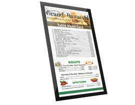 #29 for Design restaurant table menu by asik01711