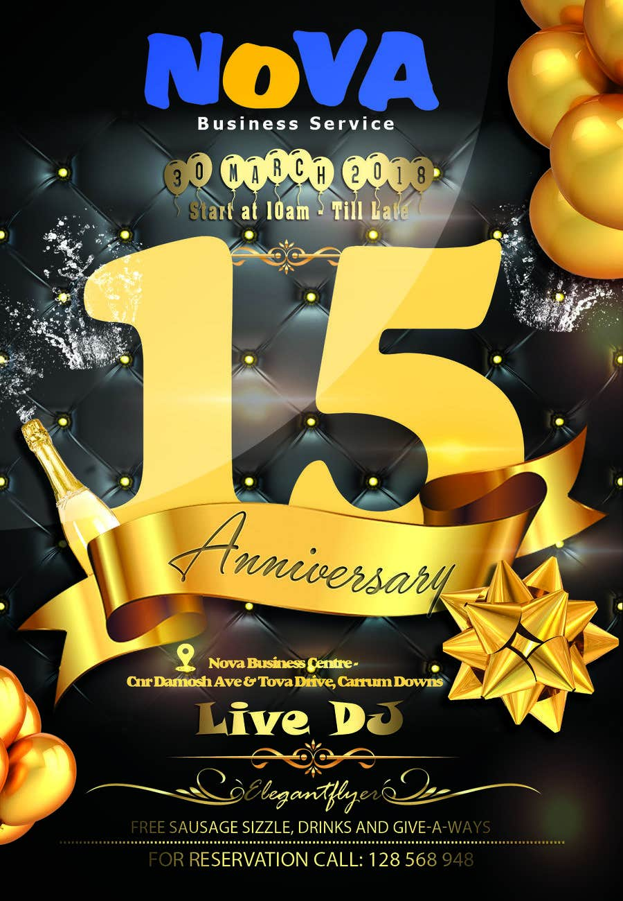 Anniversary Flyer | Entry 3 By Ariprasetyo333 For Nova 15th Anniversary Flyer Freelancer