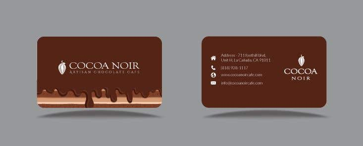 Entry 346 by hasainalfaruk for i need a business card design for inscrio n 346 do concurso para i need a business card design for chocolate cafe reheart Choice Image