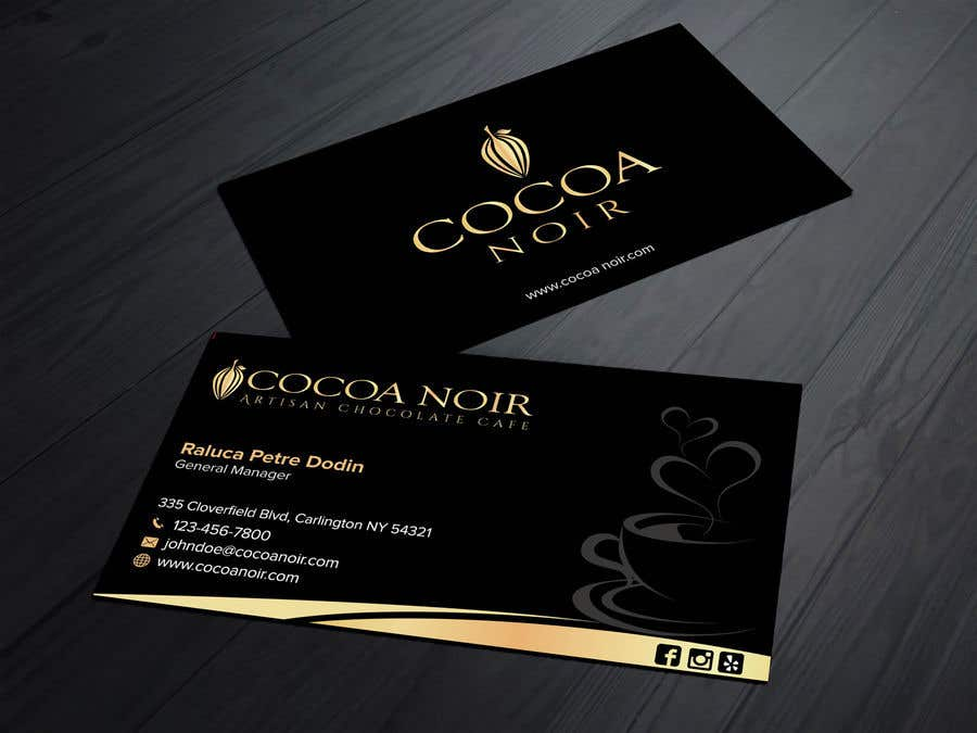 Perfect chocolate business card illustration business card ideas entry 349 by sabbir2018 for i need a business card design for colourmoves