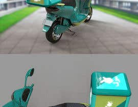 youcefcripcho tarafından Desing a delivery courier box for scooter/bike and model için no 41