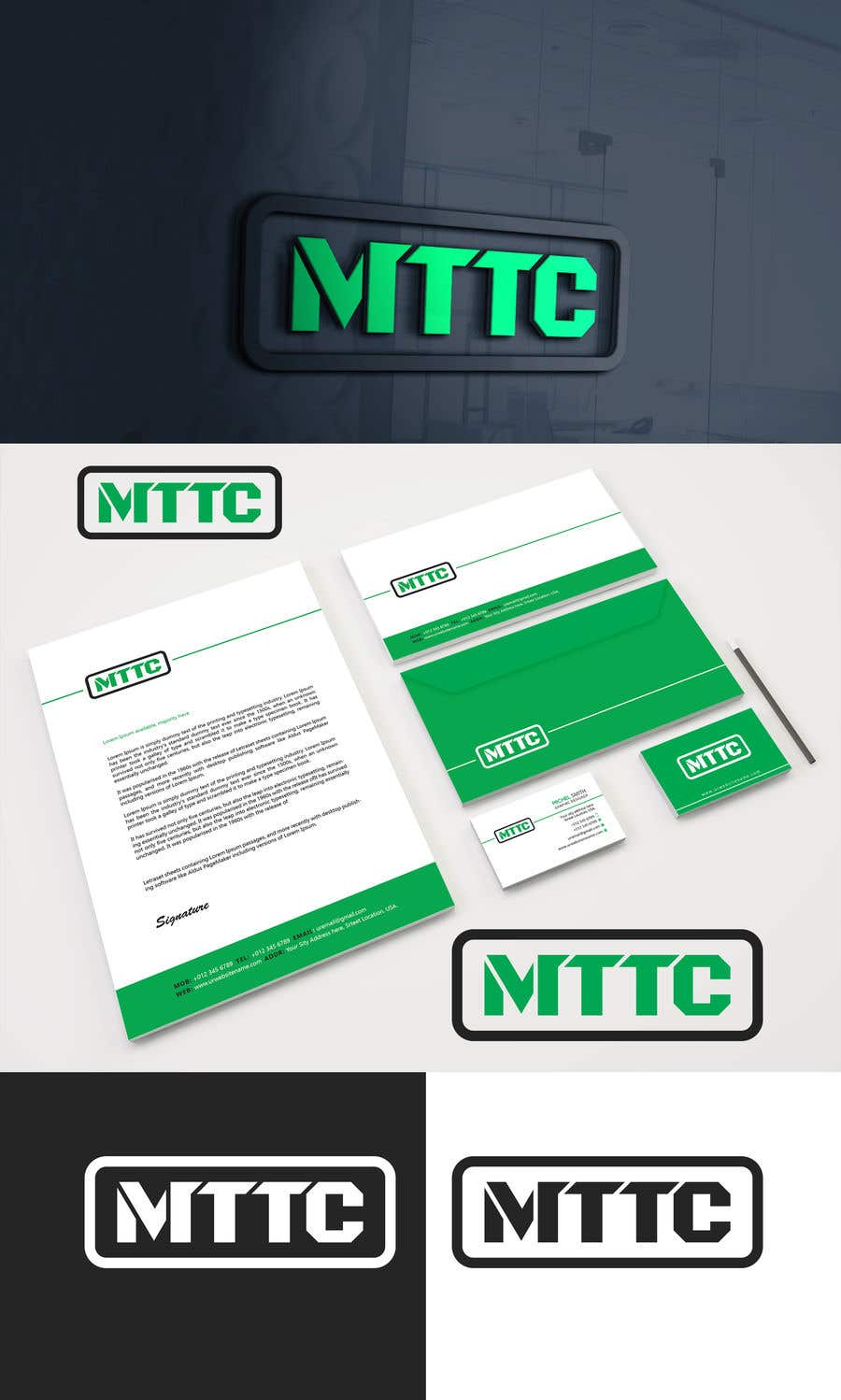 Entry #56 by akterhossain8572 for Design an company ID