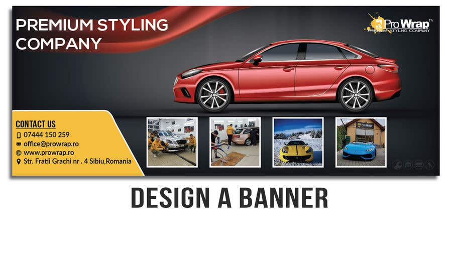 Contest Entry #17 for Design a Step and Repeat BANNER for my car company