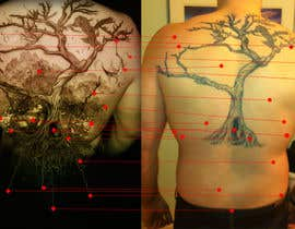 Kindland tarafından Design a huge tattoo for my back - starting with what I already have... için no 13