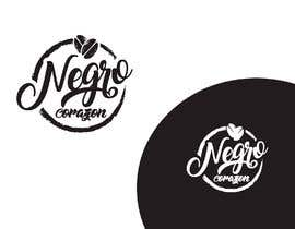 "bambi90design tarafından Design a Logo for a coffee shop called ""NEGRO CORAZÓN"" (black heart) için no 144"