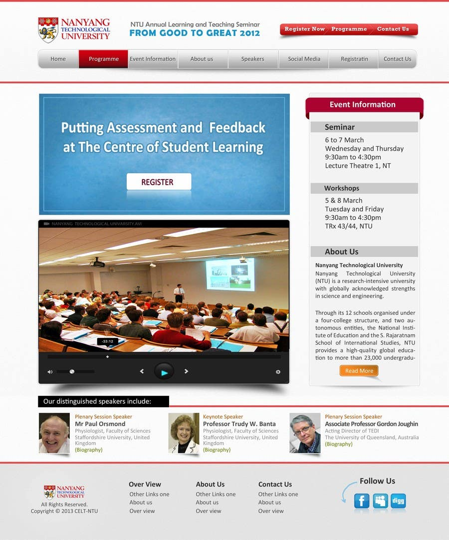 """#45 for Website Design for Seminar: """"Putting Assessment and Feedback at the Center of Student Learning"""" by logitac"""