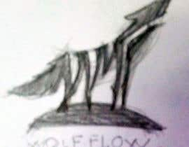 "#110 untuk I'm looking for an edgy but simple logo based on a wolf (wolf face or while body). This will be for branding. Can be silhouette, but design must be black/white. Would be nice to integrate ""Wolf Flow"" in logo. oleh reddmac"