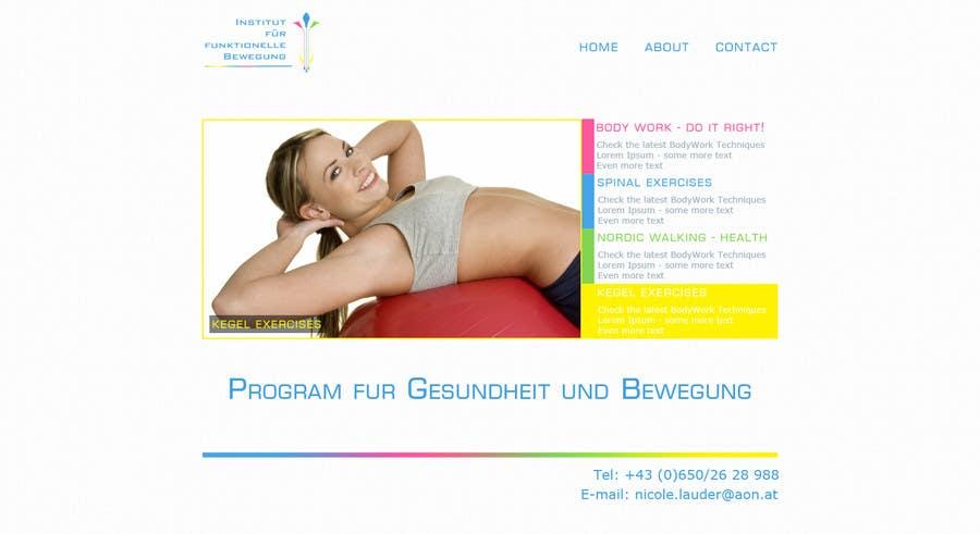 Inscrição nº 1 do Concurso para Wordpress Theme Design for Institut für funktionelle Bewegung