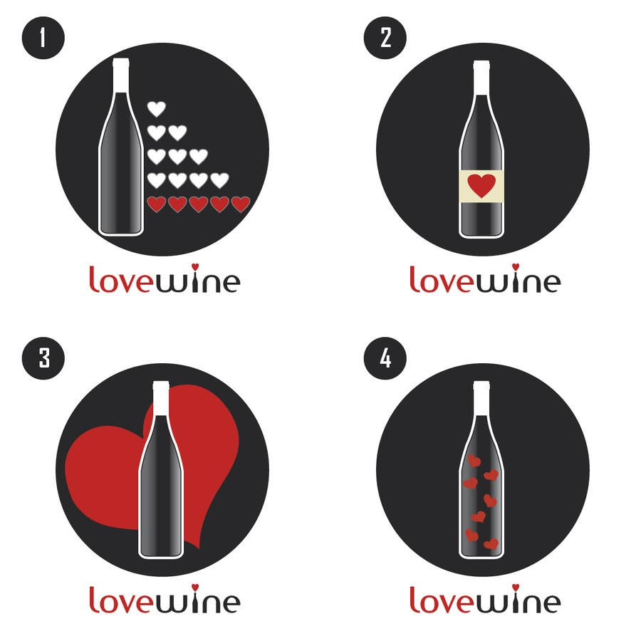 #300 for Logo Design for Heart Wine (love wine) by bajpaijalaj