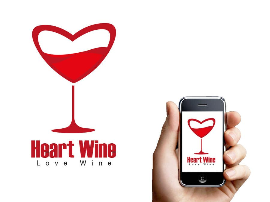 #299 for Logo Design for Heart Wine (love wine) by naatDesign