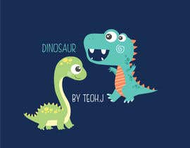 #21 for Dinosaur cartoon character - graphic design needed. by crazyteoh