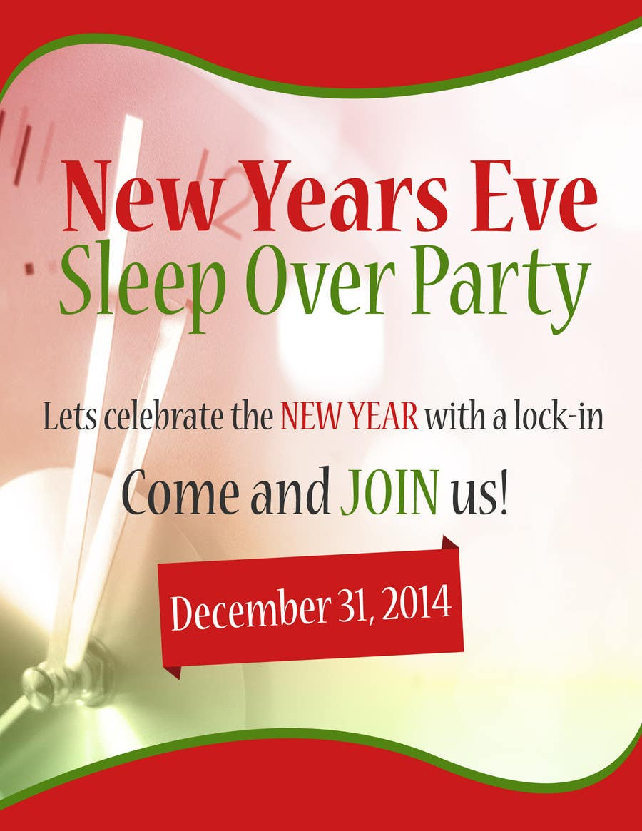 Bài tham dự cuộc thi #                                        6                                      cho                                         Design a Flyer for a New Years Eve Sleep Over Party