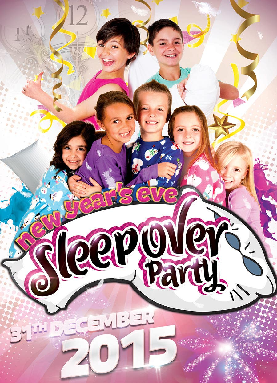 Bài tham dự cuộc thi #                                        10                                      cho                                         Design a Flyer for a New Years Eve Sleep Over Party