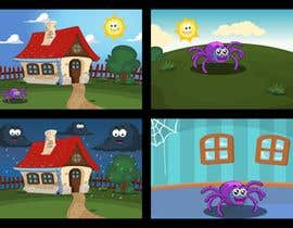 #75 untuk Create backgrounds and cartoon character for song oleh atanasovskigorgi