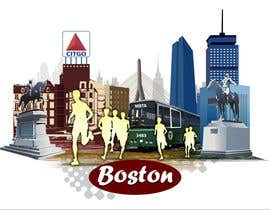 #8 for Illustration Design for Generic Runners in Boston by aneesgrace