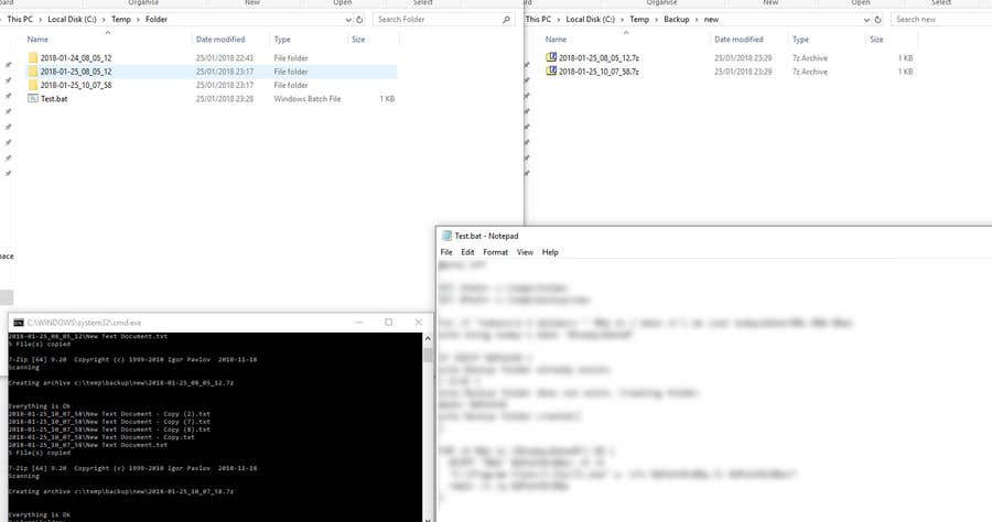 Entry #1 by Aurbor for Create a batch ( bat /  com) file for
