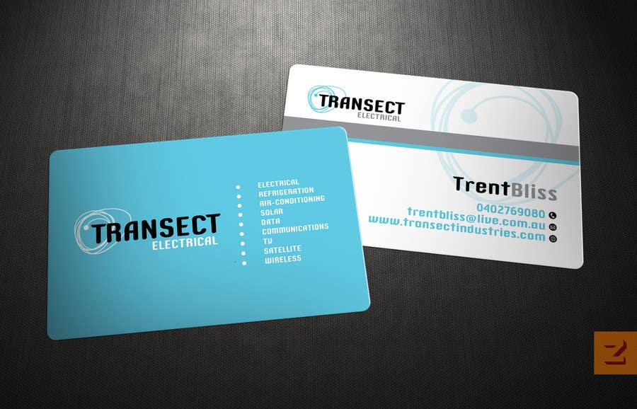 #45 for Business Card Design for Transect Industries by Zveki