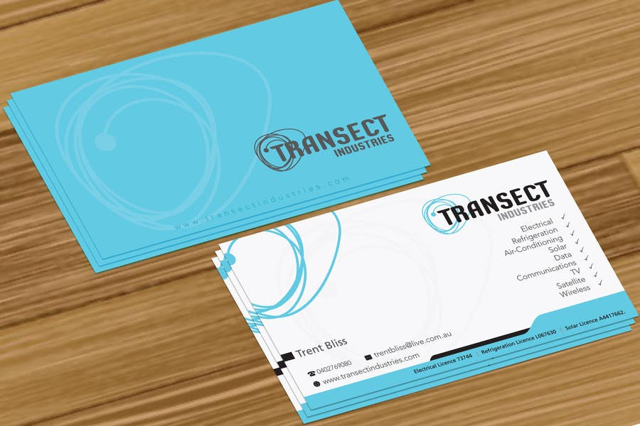 Bài tham dự cuộc thi #                                        20                                      cho                                         Business Card Design for Transect Industries
