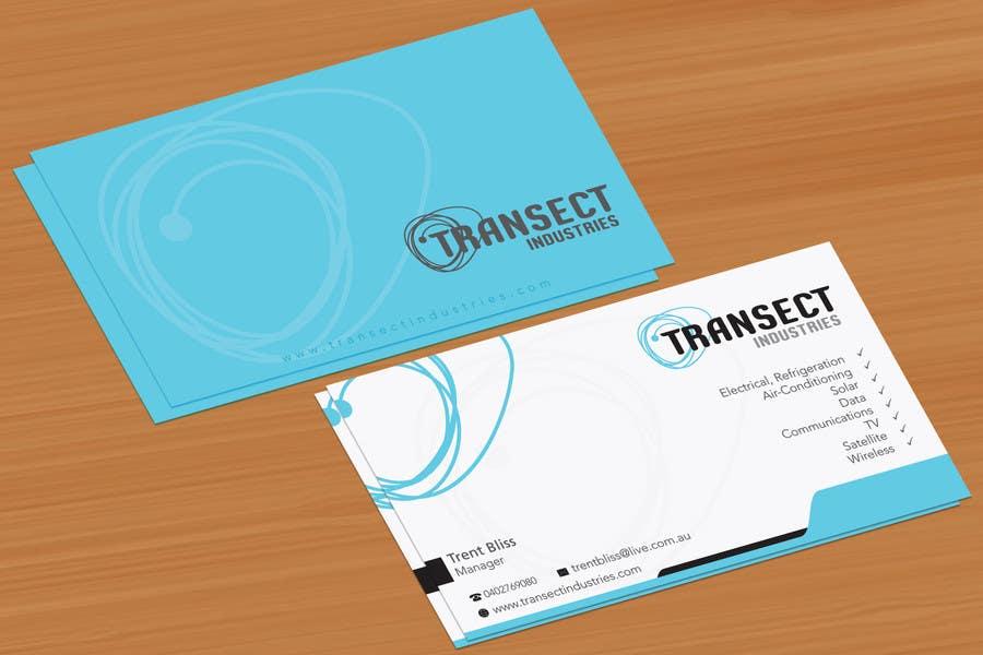 Bài tham dự cuộc thi #                                        9                                      cho                                         Business Card Design for Transect Industries