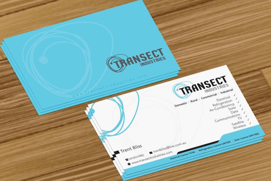 Bài tham dự cuộc thi #                                        63                                      cho                                         Business Card Design for Transect Industries