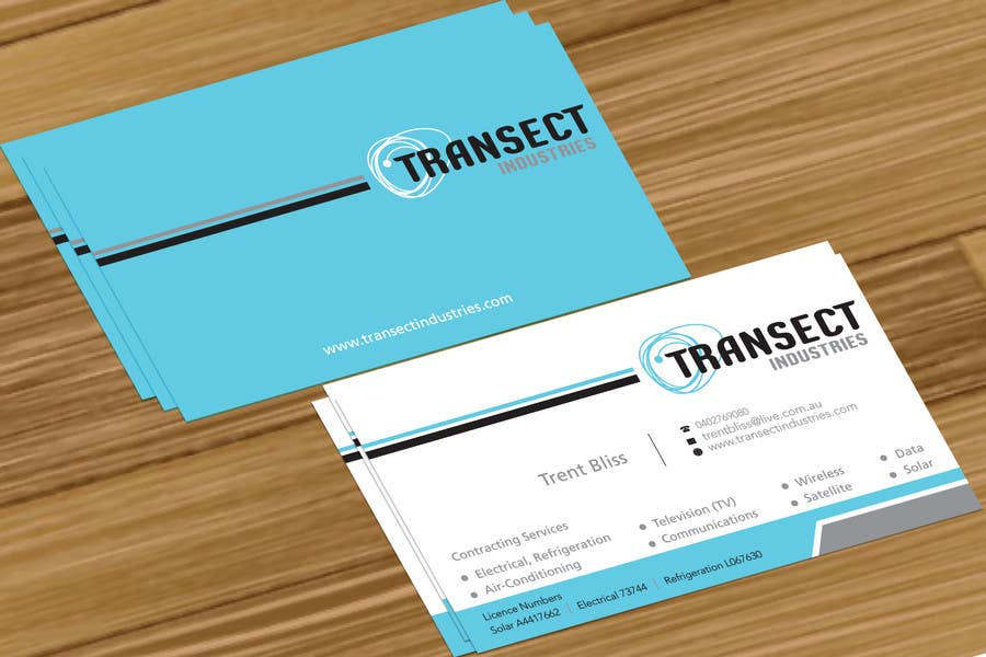 #32 for Business Card Design for Transect Industries by jobee