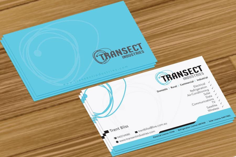 Bài tham dự cuộc thi #                                        51                                      cho                                         Business Card Design for Transect Industries